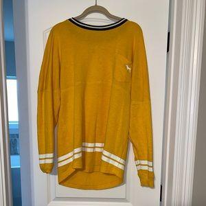 PINK brand yellow thin sweatshirt size M